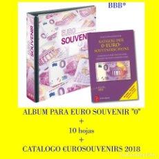 Medallas temáticas: ALBUM PARA BILLETES TURISTICOS / SOVUVENIRS ( 0 €URO) + CATÁLOGO ESPECÍFICO DEL TEMA.. Lote 175044747