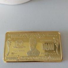 Medallas temáticas: LINGOTE DE 100.000 DOLARES ORO DE 24 KILATES 40 GRAMOS ( PRESIDENTE WILSON 1913 -1921). Lote 207197988