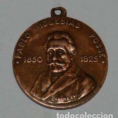 Medallas temáticas: MEDALLA DE PABLO IGLESIAS POSSE 1850-1925. UNIÓN GENERAL DE TRABAJADORES. POR ENRIQUE CUARTERO. MIDE. Lote 176057263