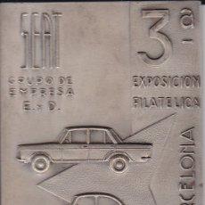 Medallas temáticas: MEDALLA 3ª EXPOSICION FILATELICA BARCELONA SEAT GRUPO DE EMPRESA E.Y.D 1961 (COCHE-CAR). Lote 176059547