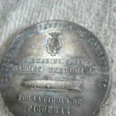 Medallas temáticas: SUBMARINO S 33 POR LA CIUDAD DE FIGUERES ENTREGA DE LA BANDERA DE COMBATE AL SUBMARINO NARCISO MONTU. Lote 176443480