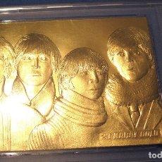 Medallas temáticas: THE BEATLES, LOS 4 DE LIVERPOOL, LINGOTE ORO, EDICIÓN LIMITADA Nº 10530, 1996, USA.. Lote 176548483