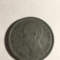 Medallas temáticas: MEDALLA ANTIGUA MONEDA BANCO SABADELL FUNDADA EN 1881 REY ALFONSO XII DIAMETRO .4. CMS. Lote 176677963