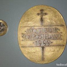 Medallas temáticas: MEDALLA AÑO JUBILAR COMPOSTELANO 1999, ENVÍO GRATIS, FIRMADA. Lote 176913273