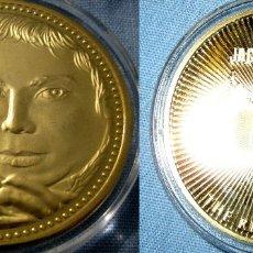 Medallas temáticas: MONEDA ORO MICHAEL JAKSON. Lote 177270559