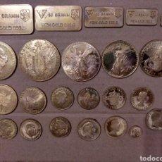 Medallas temáticas: 2CAJ- BONITO LOTE REPLICAS DE ANVERSO DE MONEDAS DE ORO Y LINGOTES. LLEVAN UN BAÑO. SIN REVERSO.. Lote 177484752