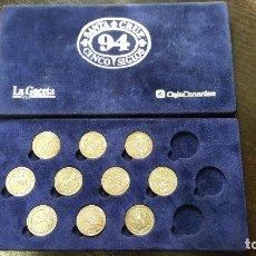 Medallas temáticas: LOTE DE 10 MEDALLAS SANTA CRUZ DE TENERIFE - CINCO SIGLOS 1994. MONEDAS DE PLATA.. Lote 178128847
