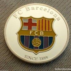 Medallas temáticas: MONEDA FC BARCELONA, LIONEL MESSI, PLATA, 4 CMS, PESO 36 GRMS, CON AUTÓGRAFO, EN CAJA NUMISMÁTICA.. Lote 178558788