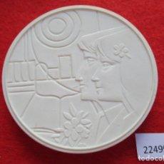 Medallas temáticas: MEDALLA DE CERAMICA DE MEISSEN, COMITÉ CENTRAL JUVENTUDES DDR RDA ALEMANIA PORCELANA, BISCUIT. Lote 178617843