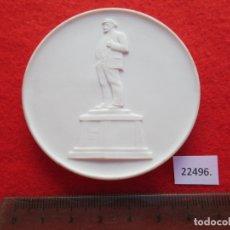 Medallas temáticas: MEDALLA DE CERAMICA DE MEISSEN, LENIN DDR RDA ALEMANIA PORCELANA, BISCUIT. Lote 178618175