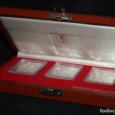 Medallas temáticas: ESTUCHE CON 3 MEDALLONES DE PLATA DE DALÍ TITULADO ADAN, EVA Y EL PECADO ORIGINAL. AÑO 1981. Lote 178869996