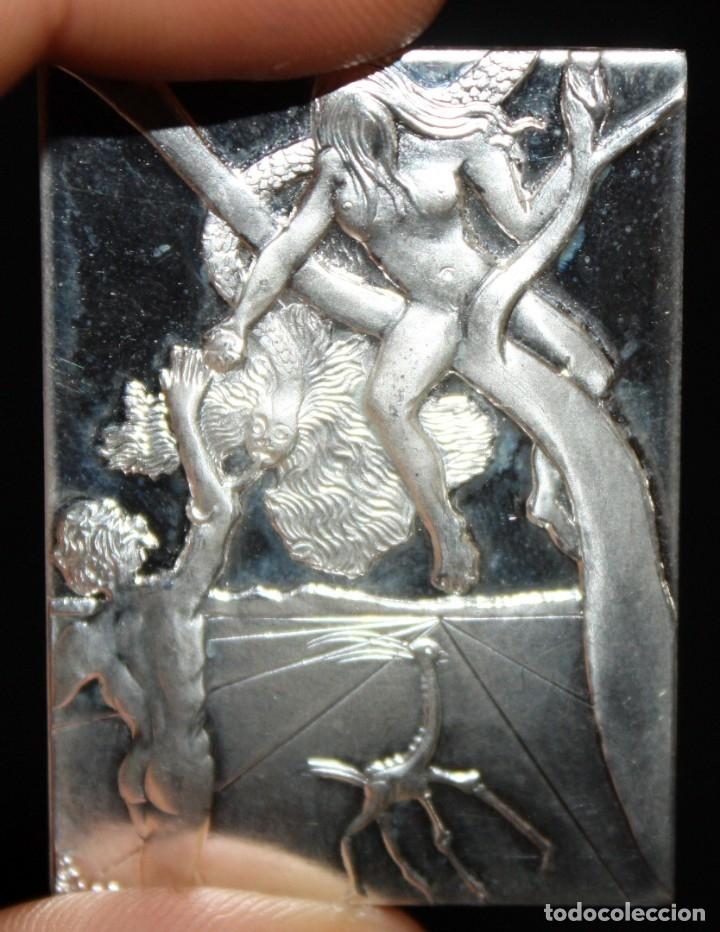 Medallas temáticas: ESTUCHE CON 3 MEDALLONES DE PLATA DE DALÍ TITULADO ADAN, EVA Y EL PECADO ORIGINAL. AÑO 1981 - Foto 7 - 178869996