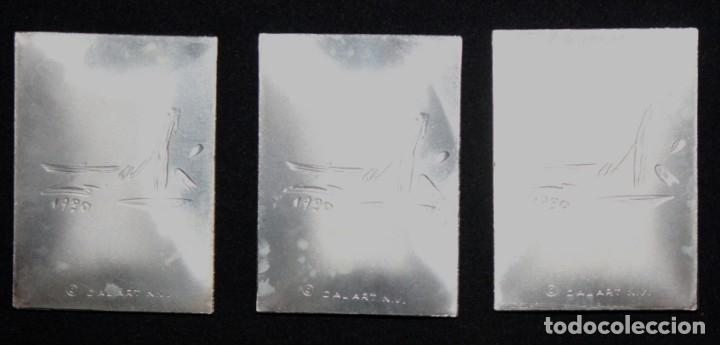 Medallas temáticas: ESTUCHE CON 3 MEDALLONES DE PLATA DE DALÍ TITULADO ADAN, EVA Y EL PECADO ORIGINAL. AÑO 1981 - Foto 8 - 178869996