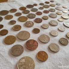 Medallas temáticas: LOTE DE 59 MONEDAS EXTRANGERAS. BE. Lote 179007742