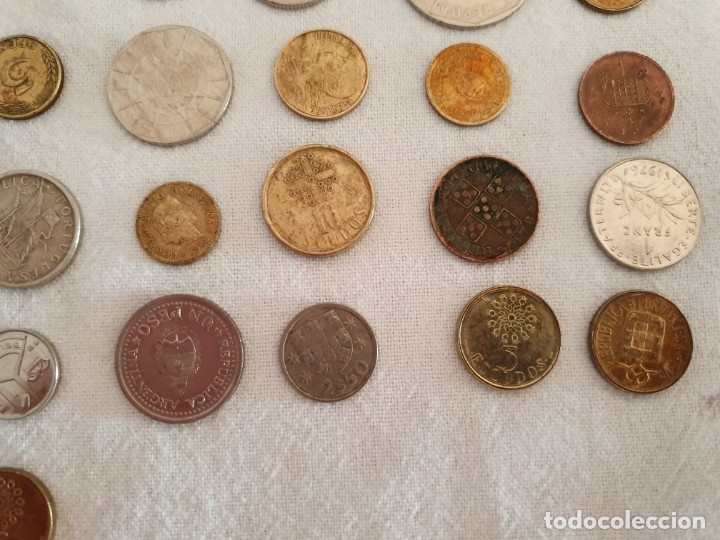 Medallas temáticas: Lote de 59 monedas extrangeras. BE - Foto 3 - 179007742