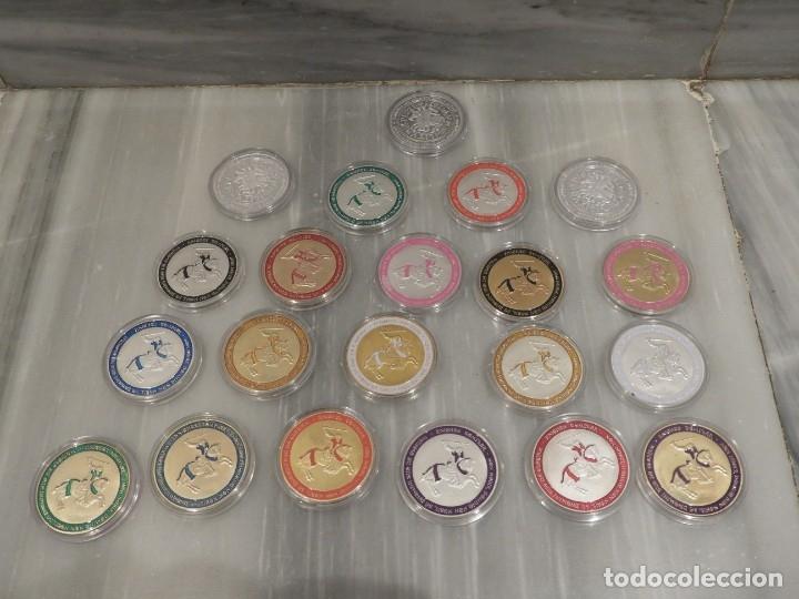Medallas temáticas: LOTE 20 MONEDAS CABALLEROS TEMPLARIOS - COLOREADAS - ESCUDOS - PLATA - Foto 7 - 179115953