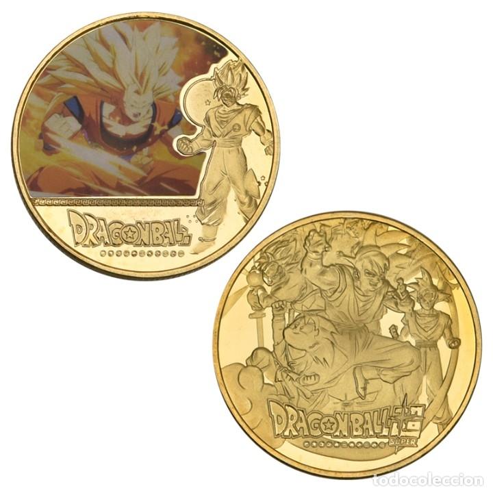 Medallas temáticas: LOTE 5 MONEDAS DRAGON BALL Z - GOKU - BAÑADO EN ORO 24KT - EDICION LIMITADA - Foto 3 - 179116436
