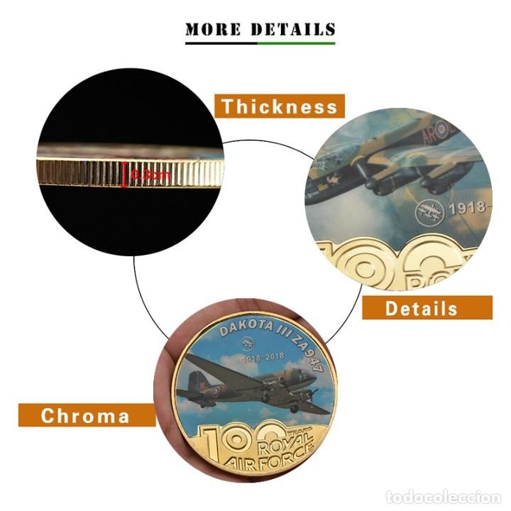 Medallas temáticas: LOTE 5 MONEDAS FUERZA AEREA REINO UNIDO - BAÑADO EN ORO 24KT - EDICION LIMITADA - Foto 2 - 179117151