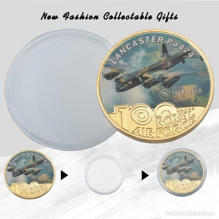 Medallas temáticas: LOTE 5 MONEDAS FUERZA AEREA REINO UNIDO - BAÑADO EN ORO 24KT - EDICION LIMITADA - Foto 3 - 179117151