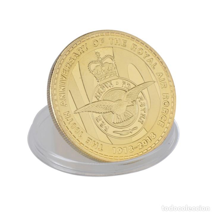 Medallas temáticas: LOTE 5 MONEDAS FUERZA AEREA REINO UNIDO - BAÑADO EN ORO 24KT - EDICION LIMITADA - Foto 4 - 179117151