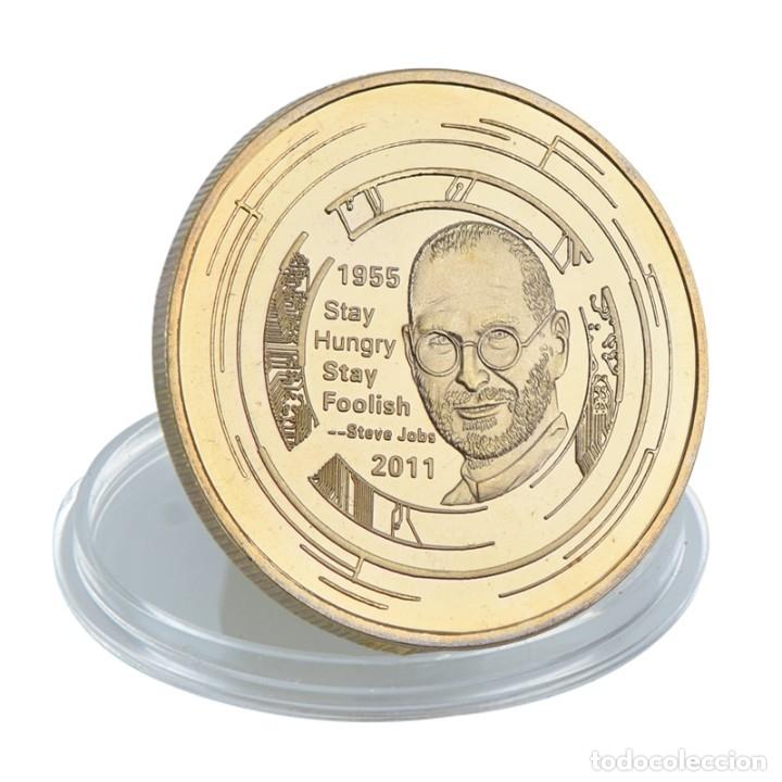 Medallas temáticas: LOTE 5 MONEDAS STEVE JOBS - FUNDADOR APPLE - BAÑADO EN ORO 24KT - EDICION LIMITADA - Foto 3 - 179117743