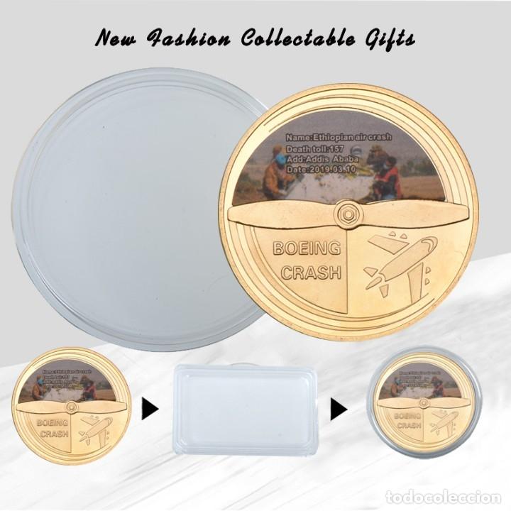 Medallas temáticas: LOTE 5 MONEDAS AVION BOING 737 ACCIDENTE AEREO - EDICION LIMITADA - Foto 4 - 179118087