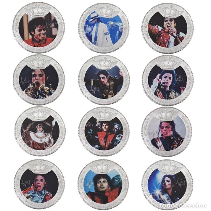 LOTE 12 MONEDAS CONMEMORATIVAS MICHAEL JACKSON REY DEL POP - EDICION LIMITADA (Numismática - Medallería - Temática)