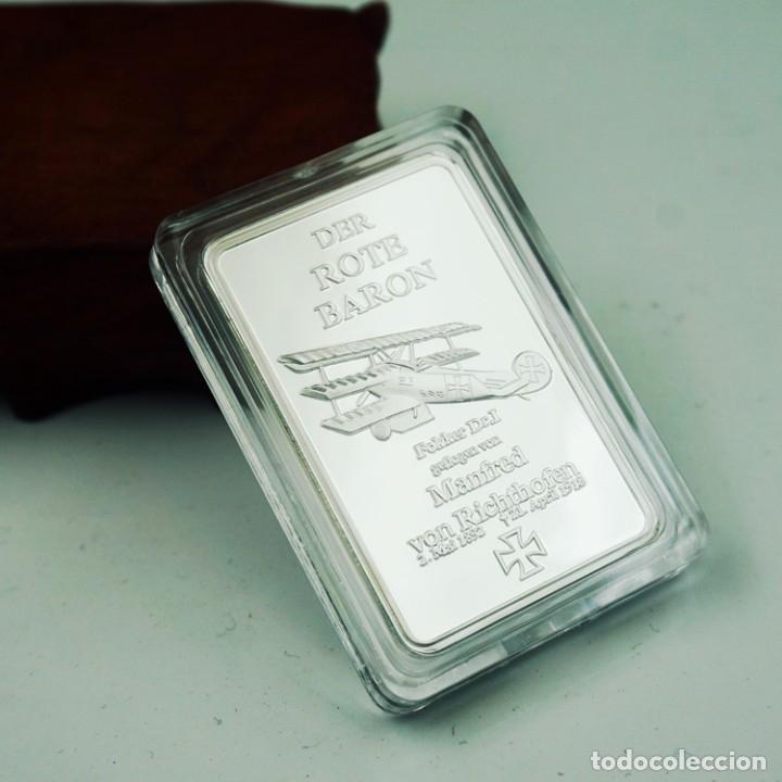 LINGOTE PLATA BARON ROJO ALEMANIA - EDICION LIMITADA (Numismática - Medallería - Temática)