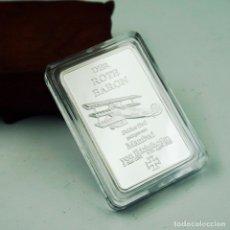 Medallas temáticas: LINGOTE PLATA BARON ROJO ALEMANIA - EDICION LIMITADA. Lote 179201287