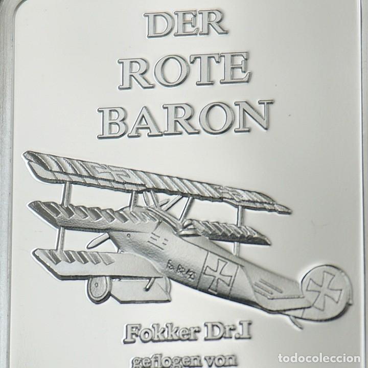 Medallas temáticas: LINGOTE PLATA BARON ROJO ALEMANIA - EDICION LIMITADA - Foto 2 - 179201287
