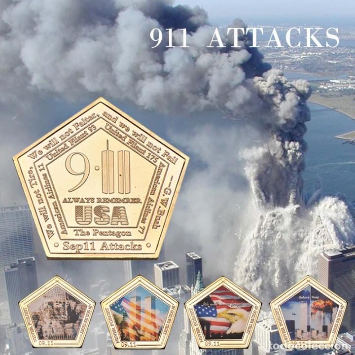 LOTE 6 MONEDAS 11 SEPTIEMBRE 2001 - ATENTADO TORRES GEMELAS - ESTADOS UNIDOS (Numismática - Medallería - Temática)