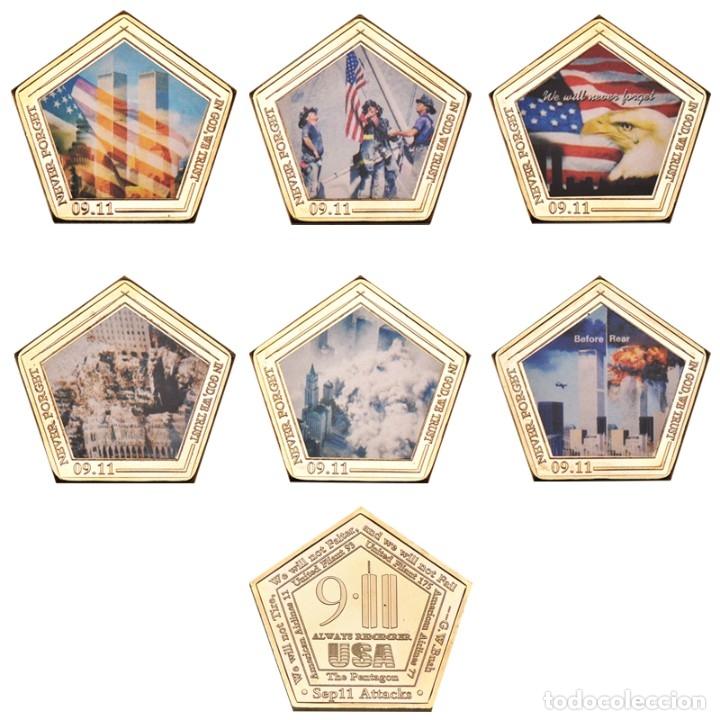 Medallas temáticas: LOTE 6 MONEDAS 11 SEPTIEMBRE 2001 - ATENTADO TORRES GEMELAS - ESTADOS UNIDOS - Foto 2 - 179201803