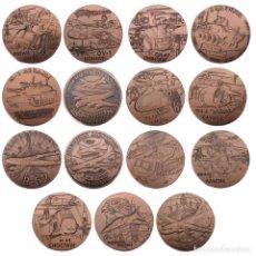 Medallas temáticas: LOTE 15 MONEDAS FUERZA ARMADA ESTADOS UNIDOS - COBRE - EDICION LIMITADA . Lote 179201992