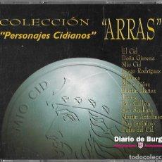 Medallas temáticas: COLECCIÓN. COMPLETA 13 ARRAS PERSONAJES CIDIANOS DE BURGOS EN PLATA DE LEY EN PERFECTO ESTDO. Lote 179310321