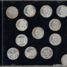 Medallas temáticas: COLECCIÓN. COMPLETA 13 ARRAS PERSONAJES CIDIANOS DE BURGOS EN PLATA DE LEY EN PERFECTO ESTDO. Lote 179312628
