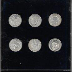Medallas temáticas: COLECCION COMPLETA DE MONEDAS CONMEMORATIVAS DE BURGOD EN SU CAJA EN PLATA DE LEY. Lote 179313250
