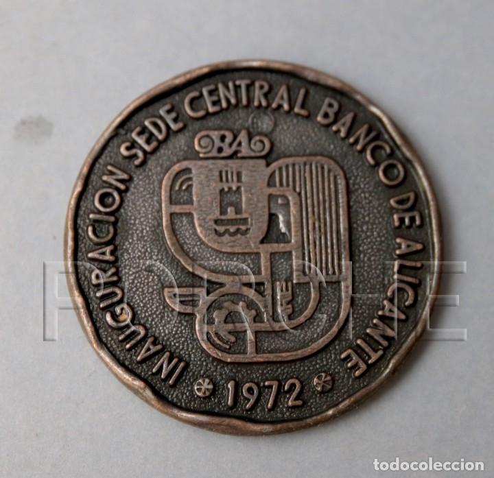 INAUGURACIÓN SEDE CENTRAL BANCO DE ALICANTE - 1972 - (Numismática - Medallería - Temática)