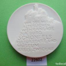 Medallas temáticas: MEDALLA DE CERAMICA DE MEISSEN ALEMANIA, ZWICKAU, PORCELANA, BISCUIT. Lote 180084562