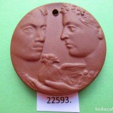 Medallas temáticas: MEDALLA DE CERAMICA DE MEISSEN ALEMANIA, CRUZ ROJA DDR RDA 35 AÑOS, 1952 1987 PORCELANA. Lote 180142893
