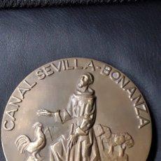 Medallas temáticas: MEDALLA BRONCE ASB CANAL SEVILLA - BONANZA.1977. Lote 181130372