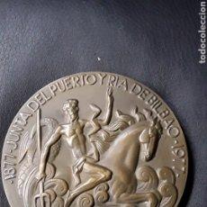 Medallas temáticas: MEDALLA BRONCE JUNTA DEL PUERTO Y RIA DE BILBAO.1877 - 1977.. Lote 181131220