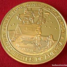 Medallas temáticas: MONEDA ORO COMEMORATIVA NASA APOLLO 11 ATERRIZAJE EN LA LUNA . Lote 181403198