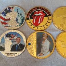 Medallas temáticas: LOTE ( 8 MEDALLAS O MONEDAS CONMEMORATIVAS DIFERENTES ). MÁS MONEDAS ANTIGUAS EN MI PERFIL.. Lote 182005483