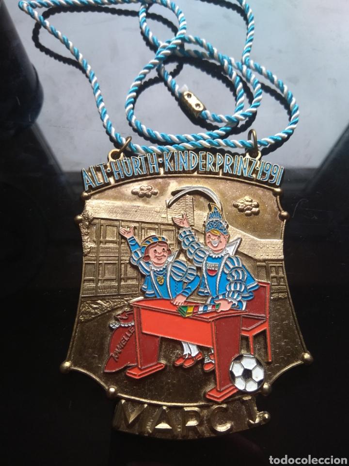 Medallas temáticas: Gran medalla esmaltada vintage. De la feria de la cerveza en 1991 - Foto 2 - 182161236