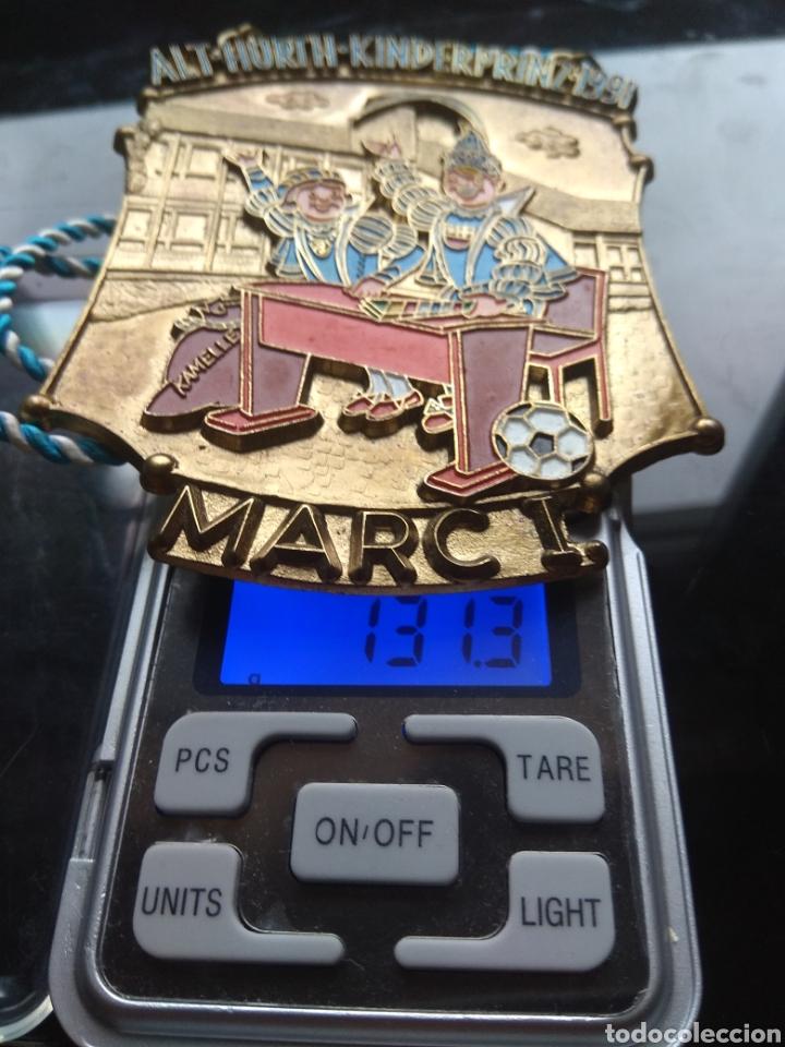 Medallas temáticas: Gran medalla esmaltada vintage. De la feria de la cerveza en 1991 - Foto 3 - 182161236