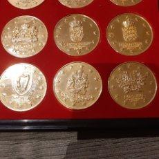 Medallas temáticas: PRECIOSAS MEDALLAS CONMEMORATIVAS XXL EN RELIEVE, 10 ANIVERSARIO UNION EUROPEA.. Lote 182288932