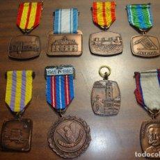 Medallas temáticas: OPORTUNIDAD ANTIGUA COLECCION DE MEDALLAS TODAS DE COBRE. Lote 182522738