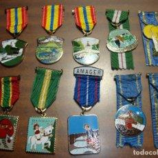 Medallas temáticas: OPORTUNIDAD ANTIGUA COLECCION DE MEDALLAS TEMATICA. Lote 182523340