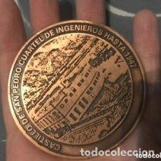Medallas temáticas: ANTIGUA MEDALLA MILITAR CASTILLO SAN PEDRO CUARTEL INGENIEROS HASTA 1947 . Lote 182973951