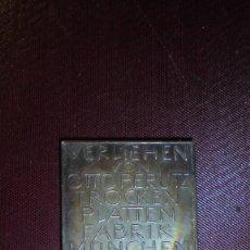 Medallas temáticas: ANTIGUA MEDALLA 1931 - VERLIEHEN VON OTTO PERUTZ TROCEN PLATTEN FABRI MUNCHEN G.M.B.H. . Lote 183306866